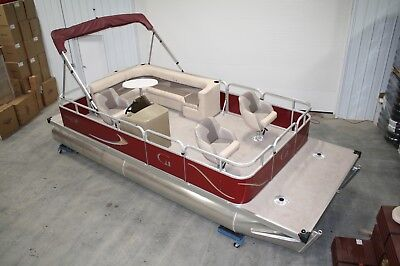 New 20 ft Rear entry bowfish pontoon boat with 25 hp and trailer.