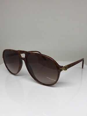 e0d4201de1 Yves Saint Laurent YSL Victor Hugo 9091 Aviator Sunglasses Marble Brown w   Gold