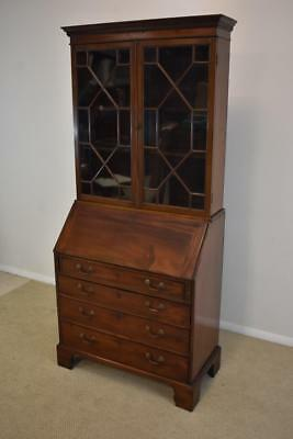 Antique 19th Century Chippendale Mahogany Secretary Desk