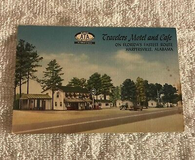 1940s - 1950s Pure Oil  Gas Station and Hotel setting, Harpersville, AL