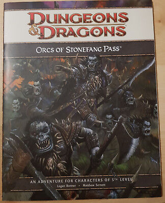 D&D Dungeons and Dragons 4th Edition Adventure - Orcs of Stonefang Pass