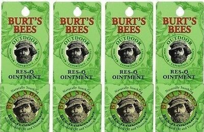 Burt's Bees 100% Natural Res-Q Ointment 0.6 oz Tin, Ointment (4-Pack)