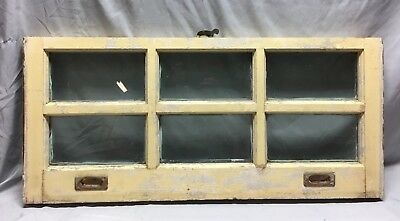 Antique 6 Lite Window Sash Brass Sash Lifts Shabby Vintage Old Chic 16X36 51-19C
