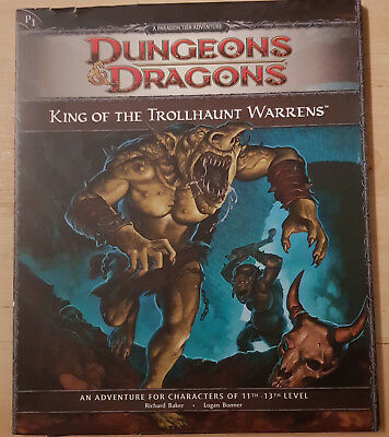 D&D Dungeons and Dragons 4th Ed. Adventure - King of the Trollhaunt Warrens - P1