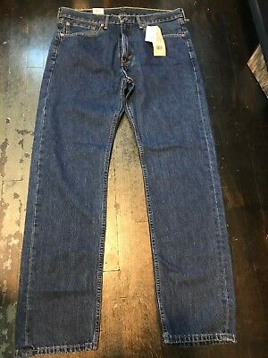 Men's Levis 505 REGULAR FIT STRAIGHT LEG Jeans 36x34