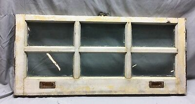 Antique 6 Lite Window Sash Brass Sash Lifts Shabby Vintage Old Chic 16X36 52-19C