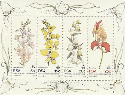 South Africa Stamps 1981 10th World Orchid Conference, Durban (MNH) A++ 355