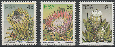 South Africa 1977 3rd Definitive. Selection of 3 stamps SG 417 418 421 Mint PA36