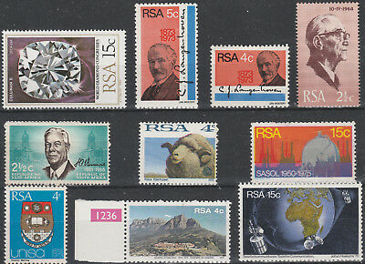 South Africa 1966-1980 Selection of 10 Mint & MLH Stamps PA12b