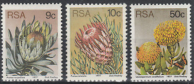 South Africa 1977 3rd Definitive. Selection of 3 stamps SG 422 423 428 Mint PA37
