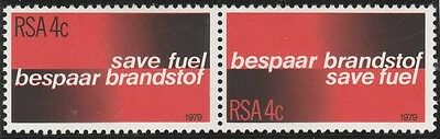 South Africa 1979 Fuel Conservation SG 457-458 se-tenant pair (MNH) 809
