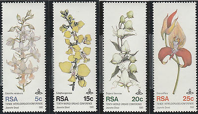South Africa 1981 10th World Orchid Conference, Durban SG 498-501 (MNH)811