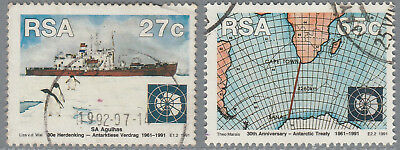 South Africa 1991 30th Anniv of Antarctic Treaty 27c & 65c SG 740-741 (Used) s6a