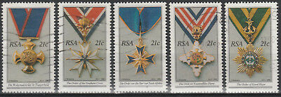South Africa 1990 Set of National Orders SG718-722 (used) s18-3