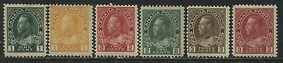 Canada KGV Admirals various 1 cent to 3 cents values unmounted mint NH