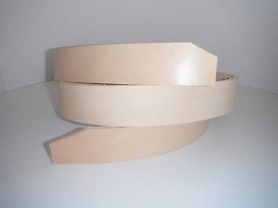 LEATHER  BELT Strap COW HIDE VEGGIE TAN 3.6 mm THICK 38 MM WIDE 1500 MM LONG