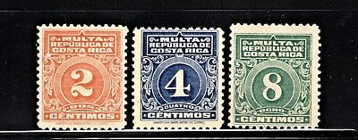 Hick Girl Stamp-Beautiful Mh. Costa Rica Stamps  Sc#j9-11   Postage Due     K715