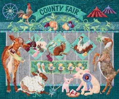 Fairest of Them All County Fair Farm Animal Java House Quilt 8 Pattern Set