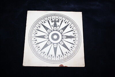 Old Ottoman Turkish Printing Compass Cardboard Directions