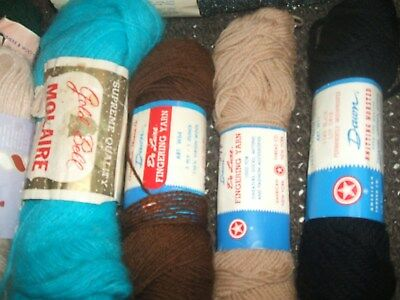 Mixed Lot Of Vintage Fingering  Yarn Ect...