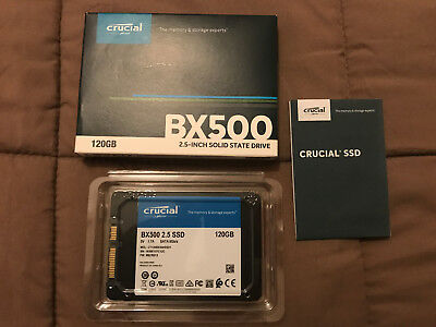 """HARD DISK SSD 2,5"""" stato solido 120GB CRUCIAL BX500"""