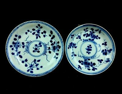18 C. Chinese YongZheng Blue & White Porcelain Plates w/ Southey's Auction Tags.