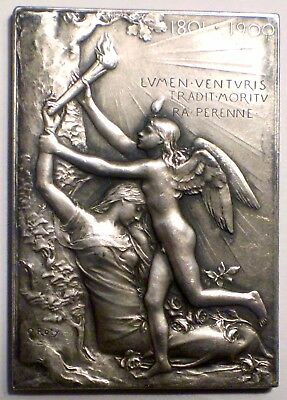 French Bronze Plaque Exposition Universelle Internationale Paris 1900 By O. Roty