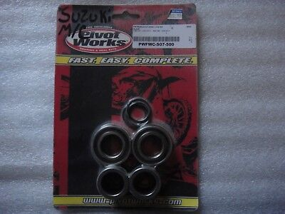Pivot Works Water Tight Wheel Collar Bearings seals Kit front Suzuki rmz 250 450