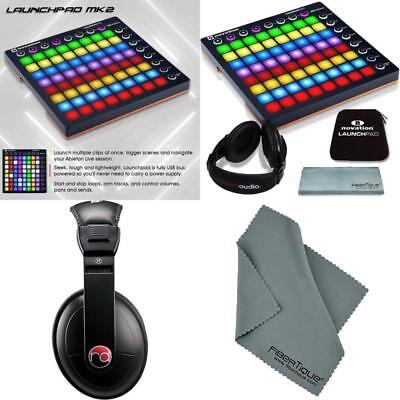 Novation Launchpad MK II Ableton Live Controller Bundle w/ Soft Carry&Headphones
