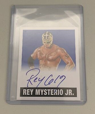 2018 Leaf Legends of Wrestling Rey Mysterio Jr. Auto Alternate Card /10 # A-RMJ