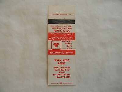 South Bend Indiana State Farm Insurance matchcover matchbook