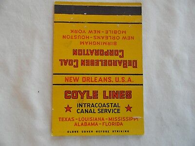 New Orleans Louisiana intracoastal canal service coal Coyle Lines matchbook