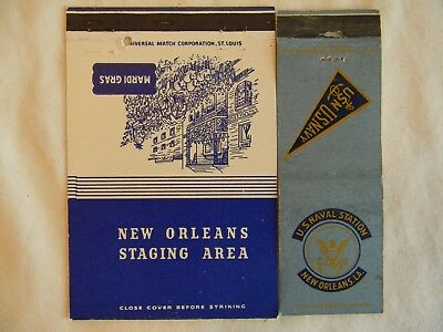 New Orleans Louisiana Staging Area U. S. Navy military WWII matchbooks