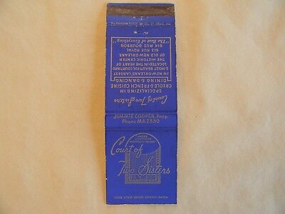 New Orleans Lousiana food & beverage low # matchcover matchbook