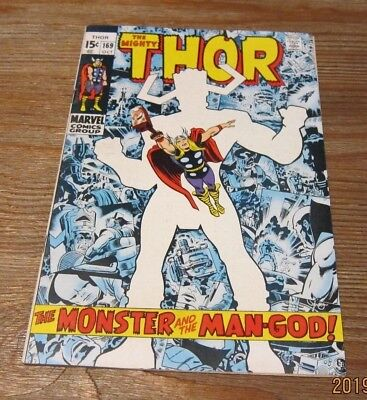 The Mighty Thor #169 Marvel Comic Origin of Galactus Silver Age Complete Kirby