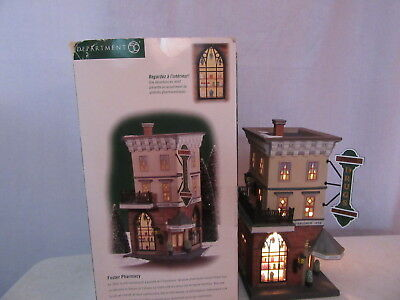 Dept 56 Christmas in the City Foster Pharmacy 58916