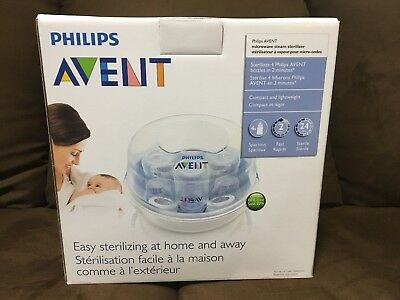NEW! Philips Avent Microwave Steam Sterilizer 3 in 1 for 4 Baby Bottles.