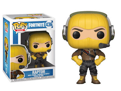 "New Funko Pop! Games 436 Fortnite Raptor 3.75"" Vinyl Figure Video Game Skin"