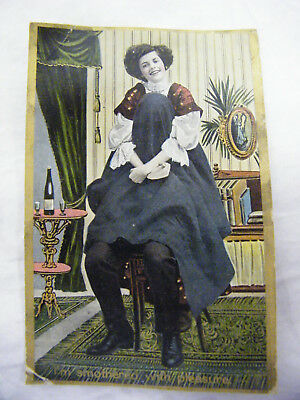 Vintage 1909 Smothering with Pleaure Post Card, Printed in Germany