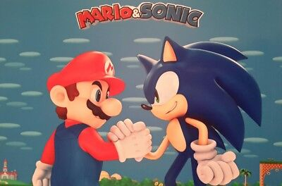 Mario & Sonic A4 Picture Print A4 Children Kids Wall Art