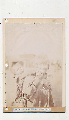 M 1417  6X  10  1910-15 Photograph Mojave Indian Grandmother And Baby