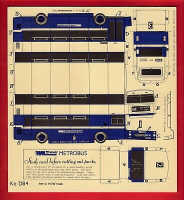 4mm Cut Out Card Bus Kit ~ West Midands Travel: 1982 MCW Metrobus Mk.2 - Nimbus