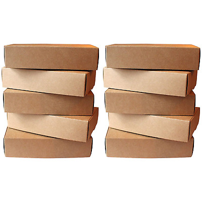 Kurtzy Brown Postal Cardboard Boxes 10 Pcs - Kraft Presentation of 19 x 11cm...