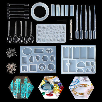 Jeteven Resin Casting Mold Kit Silicone Making Jewelry Pendant Mould Craft...