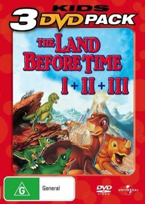 Land Before Time 1 2 3 Great Valley Adventure+Time of the Great Giving DVD 3 Ds