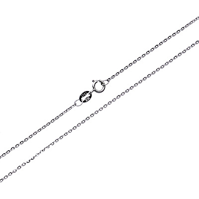 Sterling Silver 1MM Solid 925 Gliding Rolo Belcher Chain Necklace with...