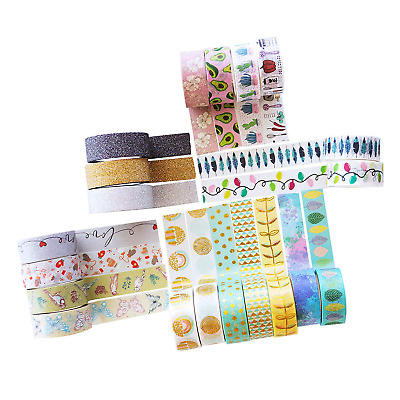 MozArt Supplies Washi Tape Set - 20 Rolls of Decorative Adhesive with Unique...