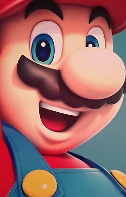Super Mario Face Character A4 Poster Picture Print Children Art
