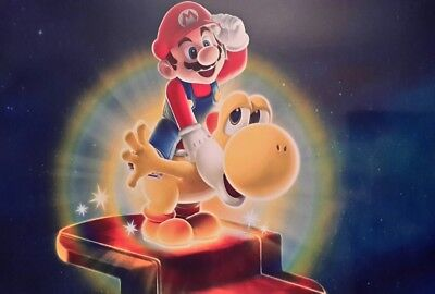 Super Mario Yoshi Gold A4 Poster Picture Print A4 Wall Art