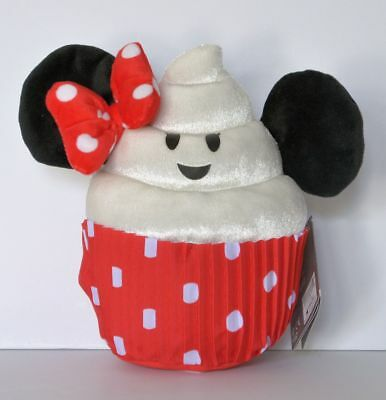 "Disney Parks Minnie Mouse Cupcake Emoji Food 9"" Plush Toy NWT Ships Free"